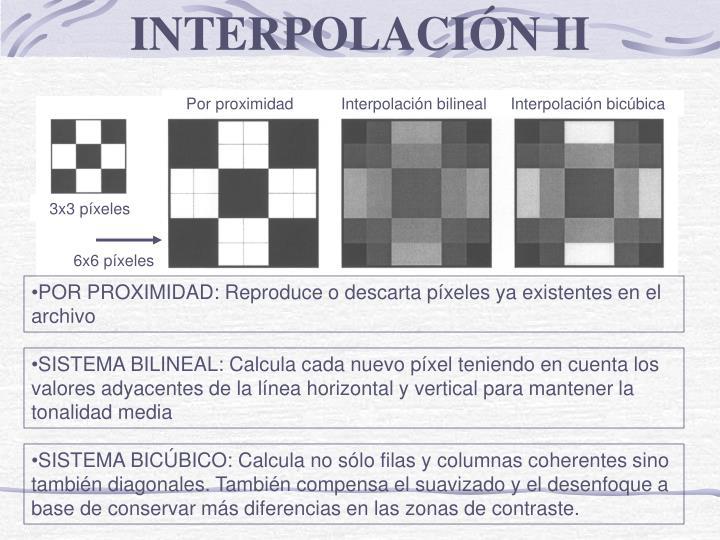 INTERPOLACIÓN II