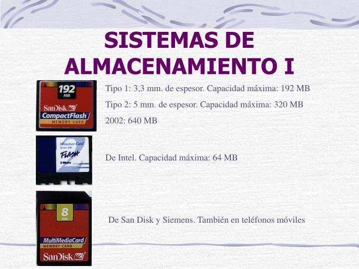 SISTEMAS DE ALMACENAMIENTO I
