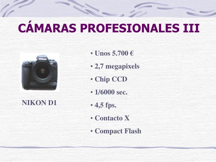 CÁMARAS PROFESIONALES III