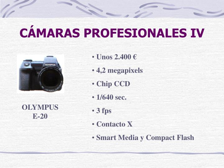 CÁMARAS PROFESIONALES IV