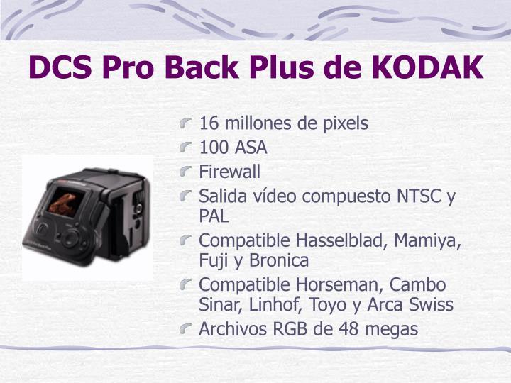 DCS Pro Back Plus de KODAK