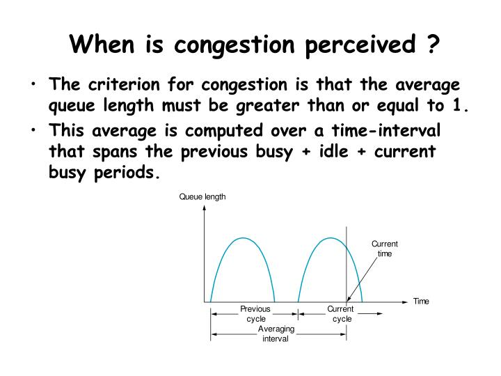 When is congestion perceived ?