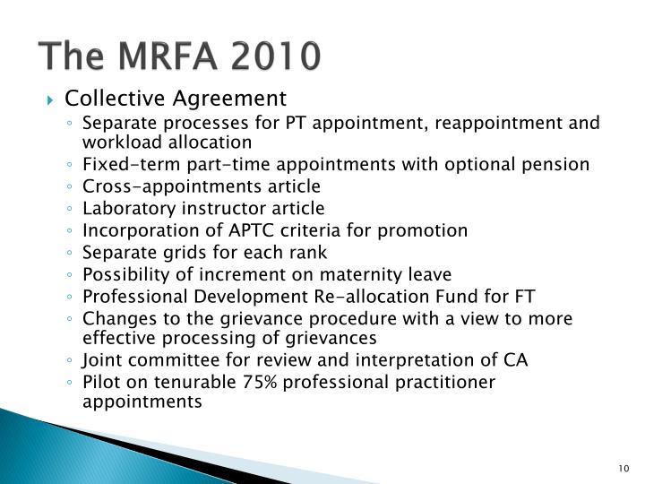 The MRFA 2010