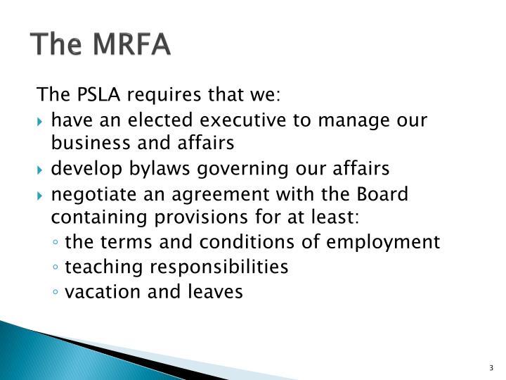 The MRFA