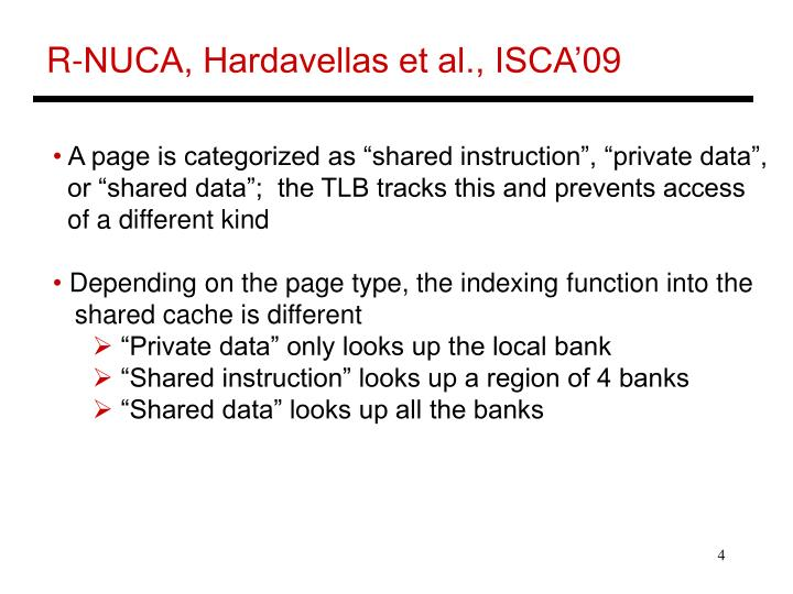 R-NUCA, Hardavellas et al., ISCA'09