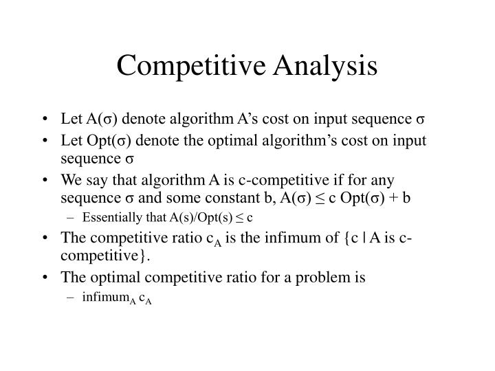 Competitive Analysis