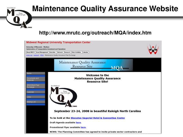 Maintenance Quality Assurance Website