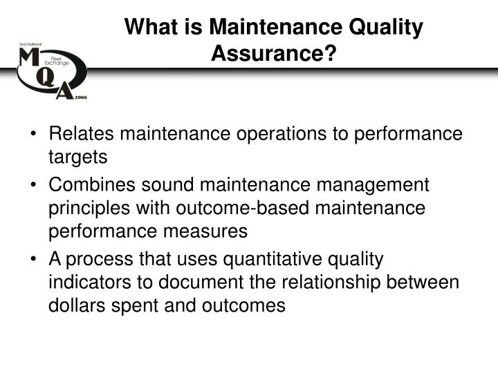 What is Maintenance Quality