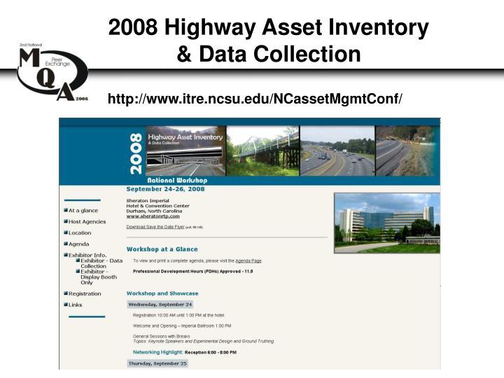 2008 Highway Asset Inventory