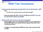 first trial conclusions