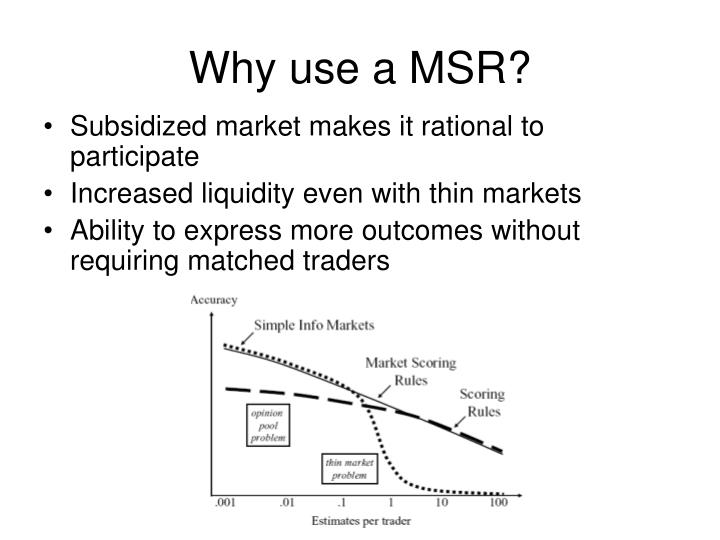 Why use a MSR?