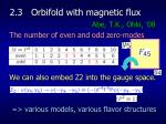 2 3 orbifold with magnetic flux