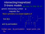 intersecting magnetized d brane models