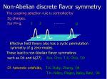 non abelian discrete flavor symmetry
