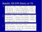 results e8 sym theory on t61