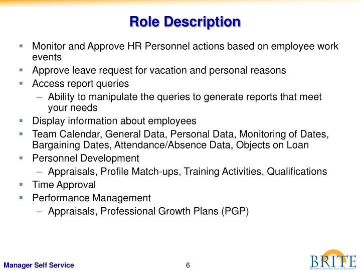 Role Description