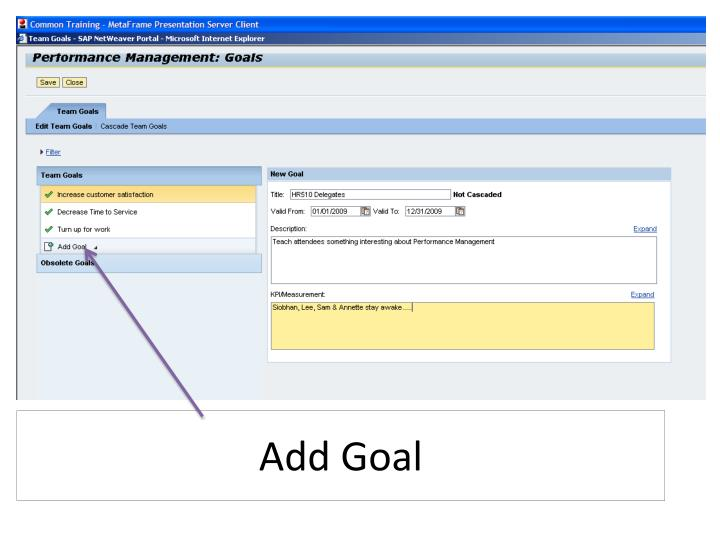 Add Goal