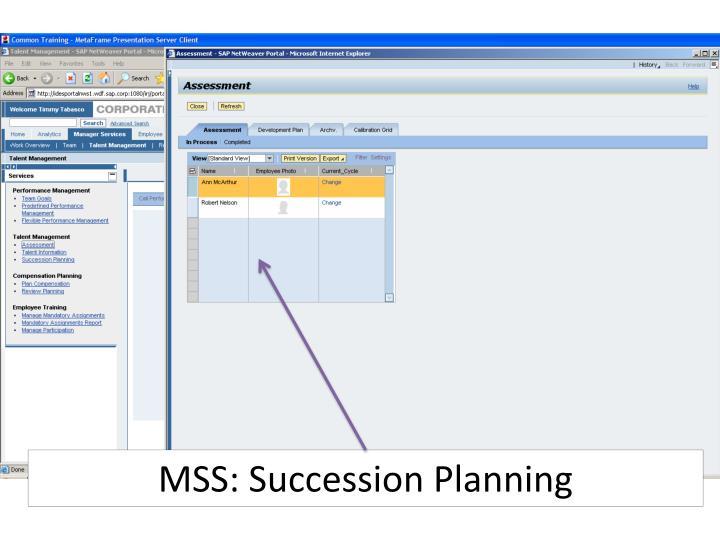 MSS: Succession Planning
