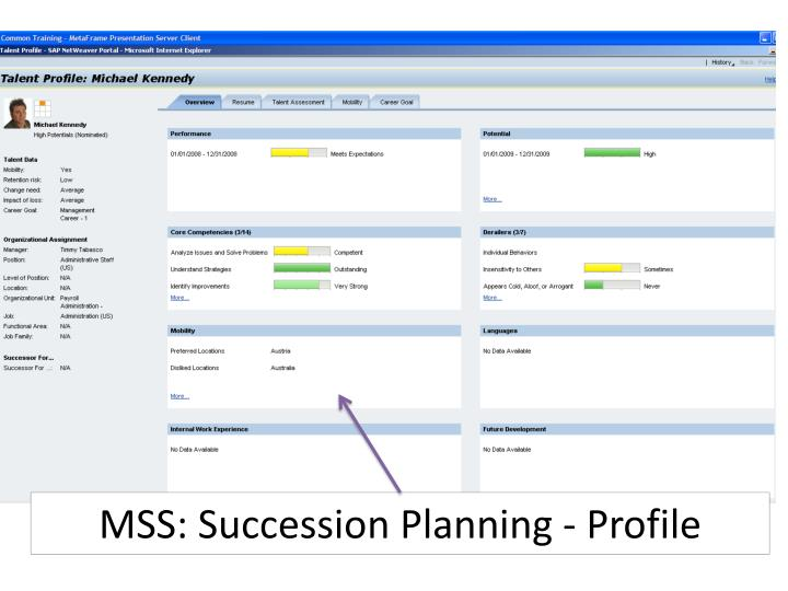 MSS: Succession Planning - Profile