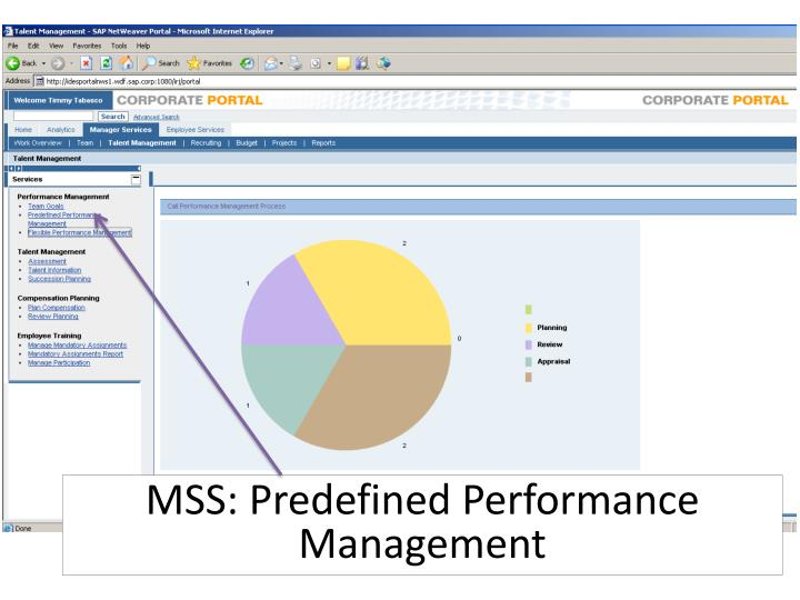 MSS: Predefined Performance Management