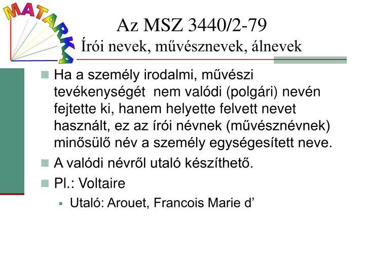 Az MSZ 3440/2-79