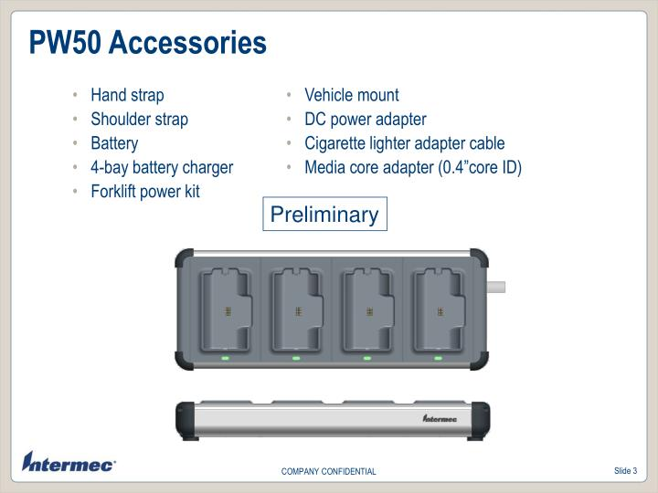 PW50 Accessories