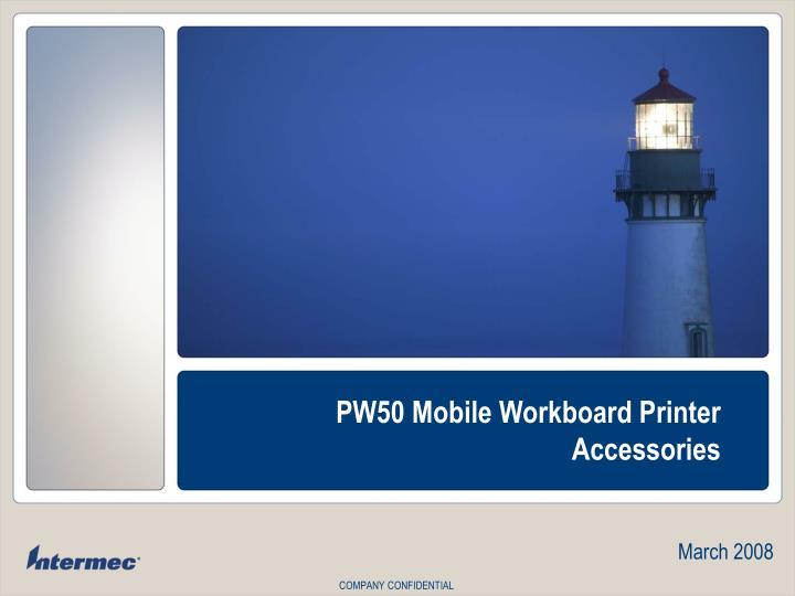 PW50 Mobile Workboard Printer
