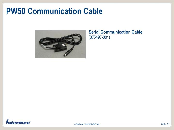 PW50 Communication Cable