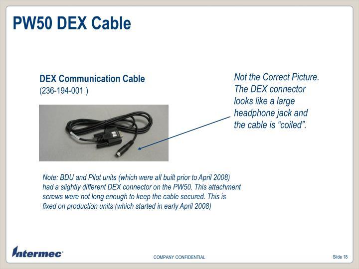 PW50 DEX Cable