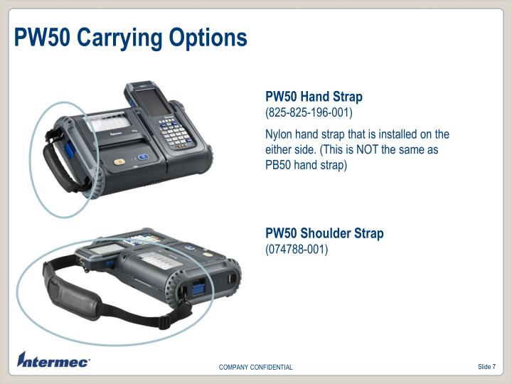 PW50 Carrying Options