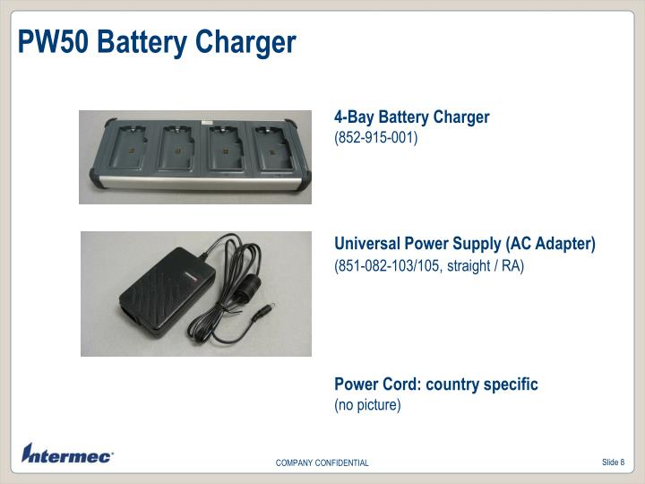PW50 Battery Charger