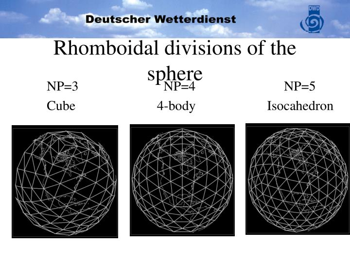 Rhomboidal divisions of the sphere