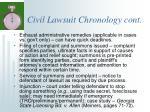 civil lawsuit chronology cont