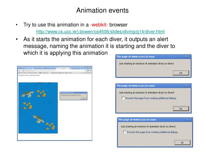Animation events