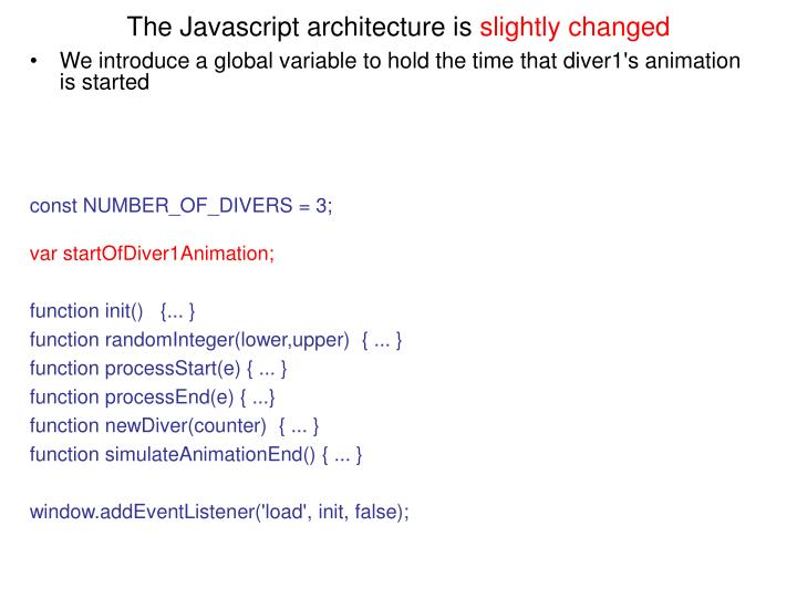 The Javascript architecture is