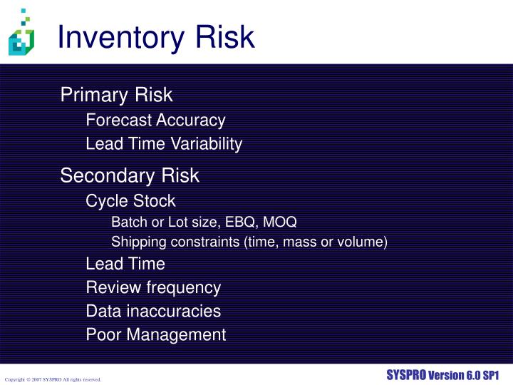 Inventory Risk
