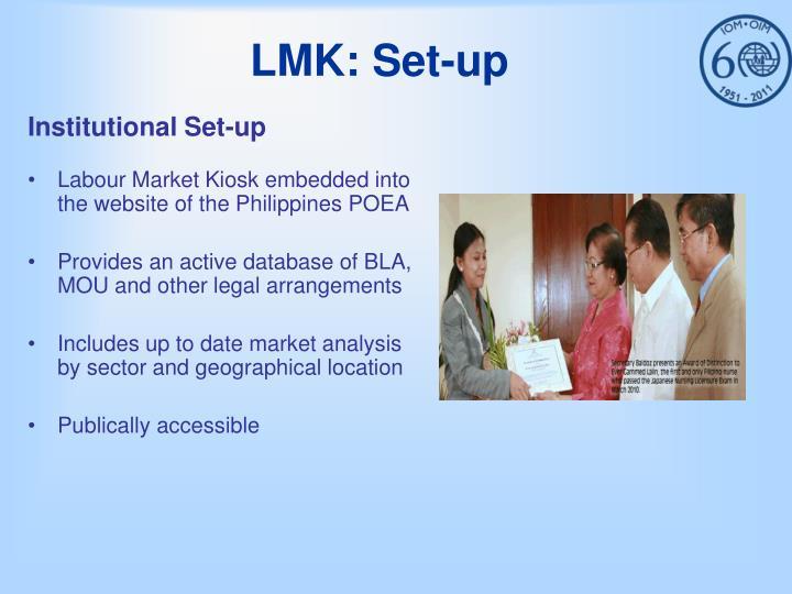 LMK: Set-up