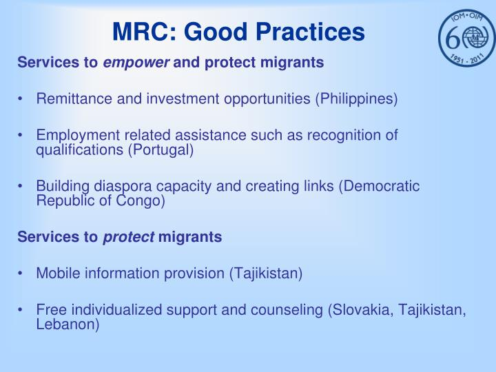 MRC: Good Practices