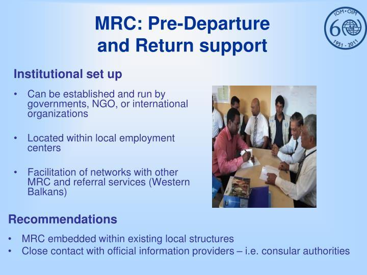 MRC: Pre-Departure
