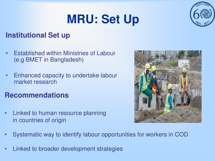 MRU: Set Up