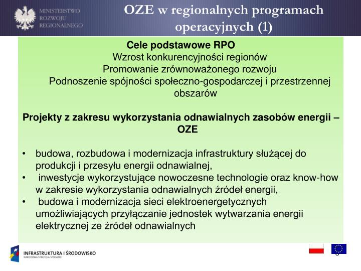 OZE w regionalnych programach operacyjnych (1)
