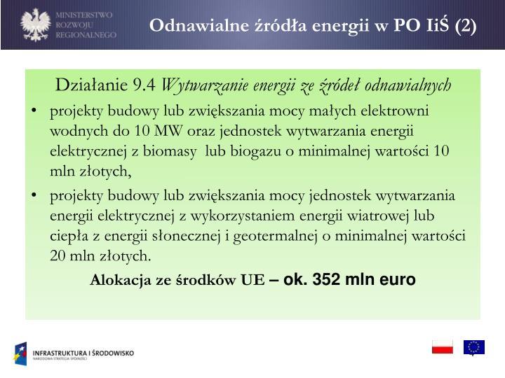 Odnawialne źródła energii w PO
