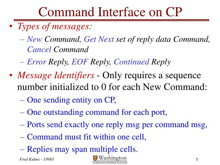Command Interface on CP