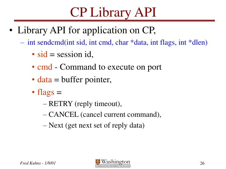 CP Library API