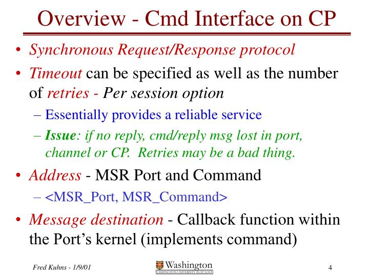 Overview - Cmd Interface on CP