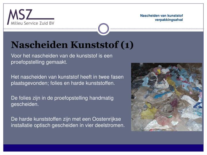 Nascheiden Kunststof (1)