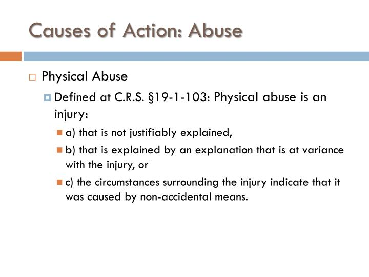 Causes of Action: Abuse