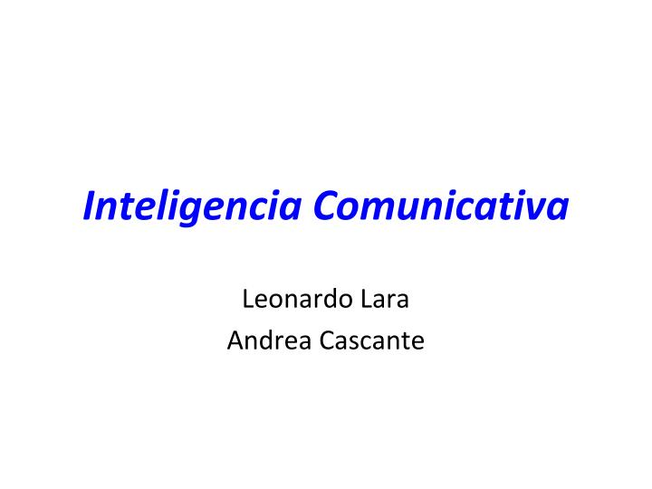 inteligencia comunicativa