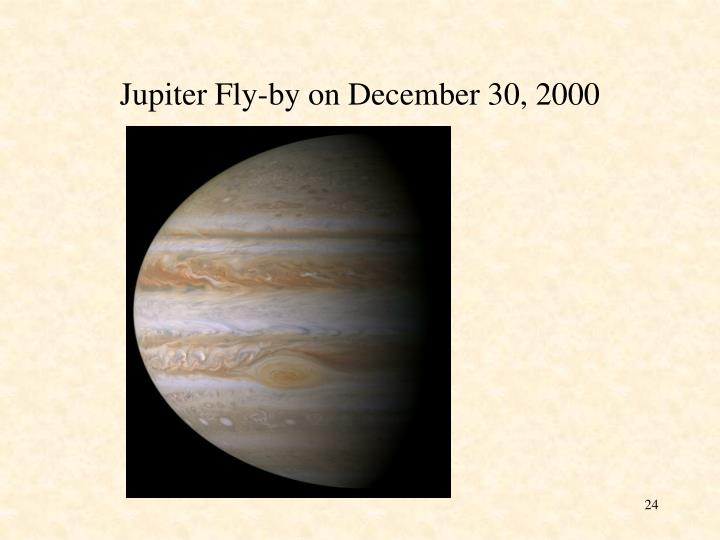 Jupiter Fly-by on December 30, 2000
