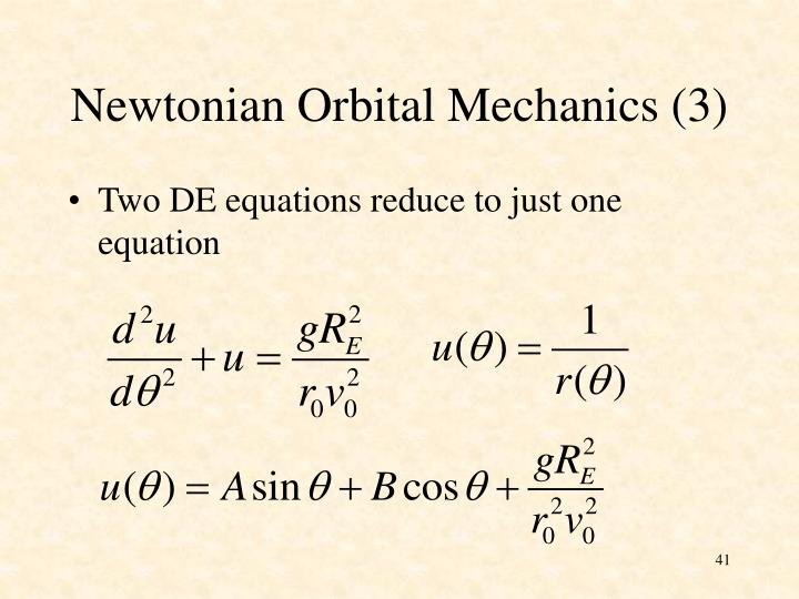 Newtonian Orbital Mechanics (3)